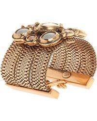 Oscar de la Renta Medieval Multi Stone Bracelet pink - Lyst