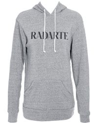 Rodarte 'Radarte' Hooded Sweatshirt - Lyst