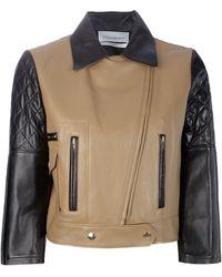 Saint Laurent Leather Jacket black - Lyst