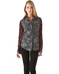 April, May - Jessey Jean Stripe Shirt - Lyst