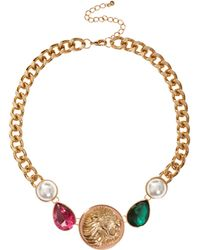 Asos Jewel Coin Necklace - Lyst