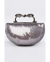 Betsey Johnson The Evening Sequin Knuckle Clutch silver - Lyst
