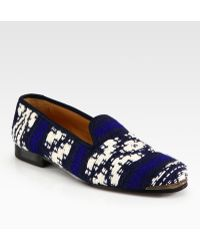 Cobra Society Najet Woven Leathertrim Smoking Slippers - Lyst