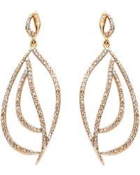 Maiyet Diamond Owl Eye Earrings gold - Lyst