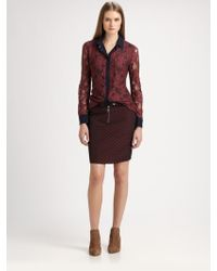 Roseanna Lace Contrast Shirt - Lyst