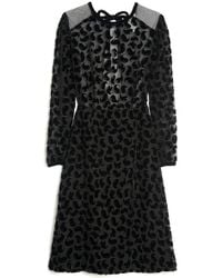 Sonia by Sonia Rykiel - Long Sleeve Devore Dress - Lyst