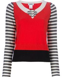Sonia by Sonia Rykiel 2 in 1 Knitted Top white - Lyst