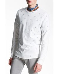 Topman All Over Star Pattern Crewneck Sweatshirt white - Lyst
