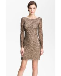 Adrianna Papell Sequin Shift Dress - Lyst