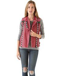 April, May - Valeri Leather Vest - Lyst