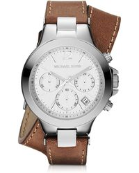MICHAEL Michael Kors - Landaulet Chronograph Watch W/ Leather Strap - Lyst