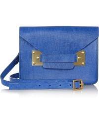 Sophie Hulme Envelope Small Textured Leather Shoulder Bag - Lyst