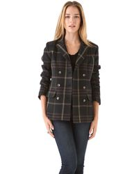 Thakoon Addition - Double Breasted Plaid Blazer - Lyst