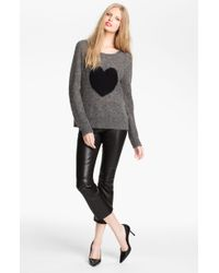 Elizabeth And James Intarsia Knit Sweater - Lyst