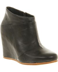 Ugg Carmine Leather Wedge Ankle Boots - Lyst
