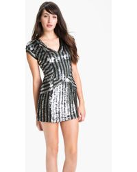 Parker Stripe Sequin Dress - Lyst