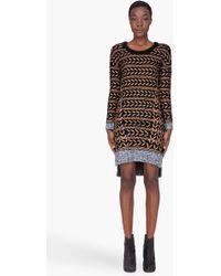 Rag & Bone Bronze Wool Lisbeth Dress - Lyst