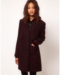 ASOS Collection | Asos Fur Collar Car Coat | Lyst