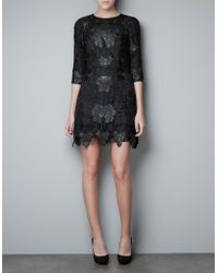 Zara Dress black - Lyst