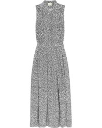 Boy by Band of Outsiders - Printed Sleeveless Silk Midi Dress - Lyst