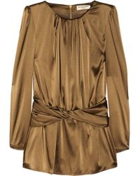 Burberry Stretch Silk Satin Top - Lyst