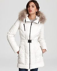 Andrew Marc Down Jacket with Detachable Hood - Lyst