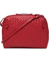 Bottega Veneta Small Messenger Bag in Blood - Lyst