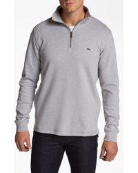 Lacoste Half Zip Pullover - Lyst