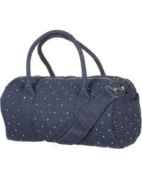TOPSHOP - Studded Denim Luggage - Lyst