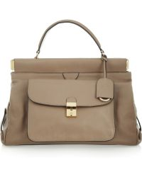 Tory Burch Priscilla Leather Tote - Lyst