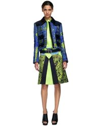 Proenza Schouler Ss Blue and Sulphur Zip Front Jacket - Lyst