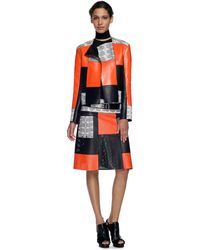 Proenza Schouler Ss Orange Patchwork Jacket with Whipsnake - Lyst