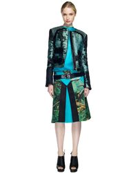 Proenza Schouler Ss Teal and Black Collarless Jacket - Lyst
