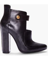 Alexander Wang Black Patent Kamila Mary Jane Boots - Lyst