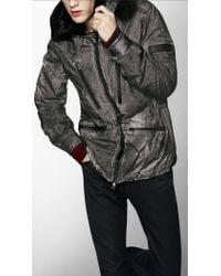 Burberry Sport - Fur Trim Military Caban  - Lyst