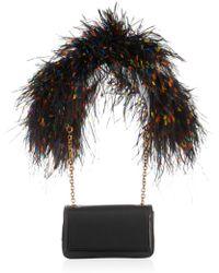 Christian Louboutin Artemis Featherembellished Shoulder Bag - Lyst