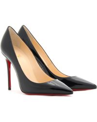 Christian Louboutin Decollete 554 100 Patent Leather Pumps - Lyst