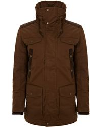 Diesel Brown Military Anorak - Lyst