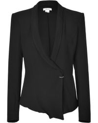 Helmut Lang Black Shawl Collar Jacket - Lyst