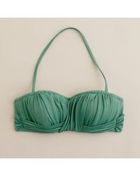 J.Crew Ruched Bandeau Top - Lyst