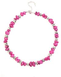 Minuet Petite - Bright Pink Bead Necklace - Lyst