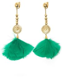 Aurelie Bidermann Cite Dor Feather Earring - Lyst