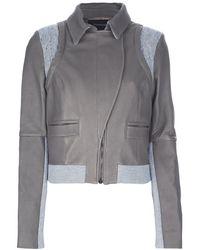 Thakoon Twotone Jacket gray - Lyst