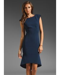 Tracy Reese Neoprene Ponte High Low Shift Dress - Lyst