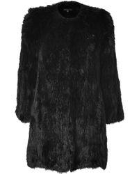 Theory Black Fur Reesa Coat - Lyst