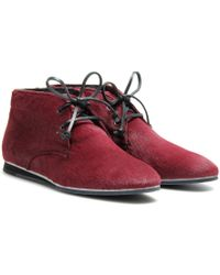 Tod's No_code Haircalf Desert Boots - Lyst