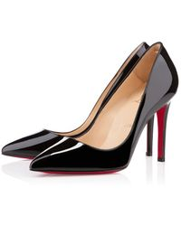 Christian Louboutin Pigalle Patent black - Lyst