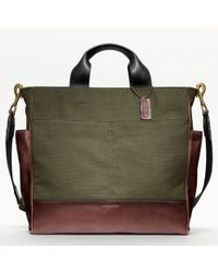 Coach Bleecker Legacy Canvas Utility Tote - Lyst