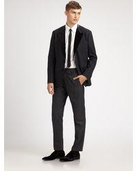 Dolce & Gabbana Raw Edge Velvet Lapel Jacket - Lyst