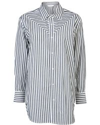 Donna Karan New York Metered Yoke Shirt - Lyst